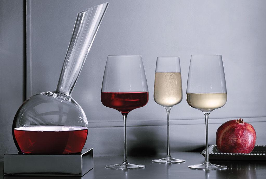 Italesse wine glasses