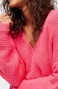 Free People Take Me Over V-Neck Sweater