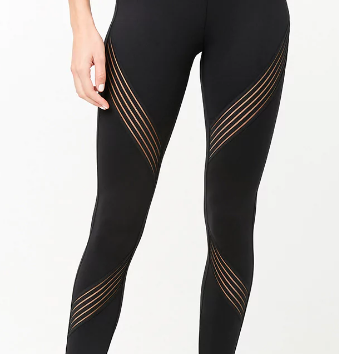 Forever 21 Active Shadow-Striped Leggings