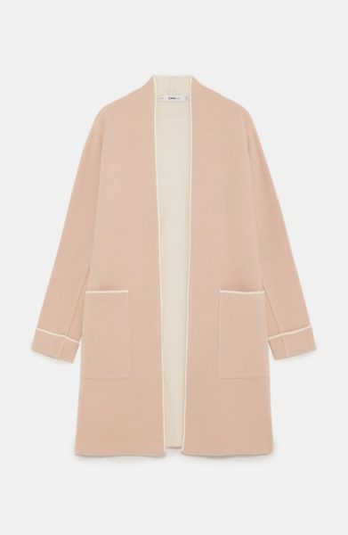 ZARA COAT WITH PIPING