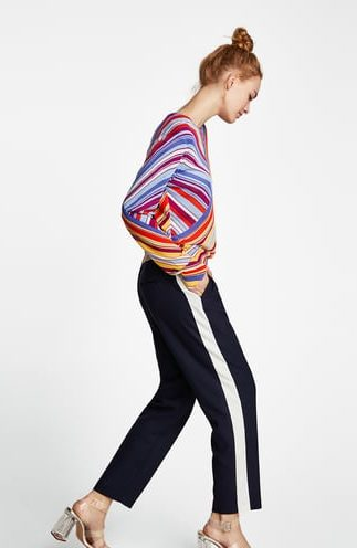 ZARA PANTS WITH SIDE STRIPE