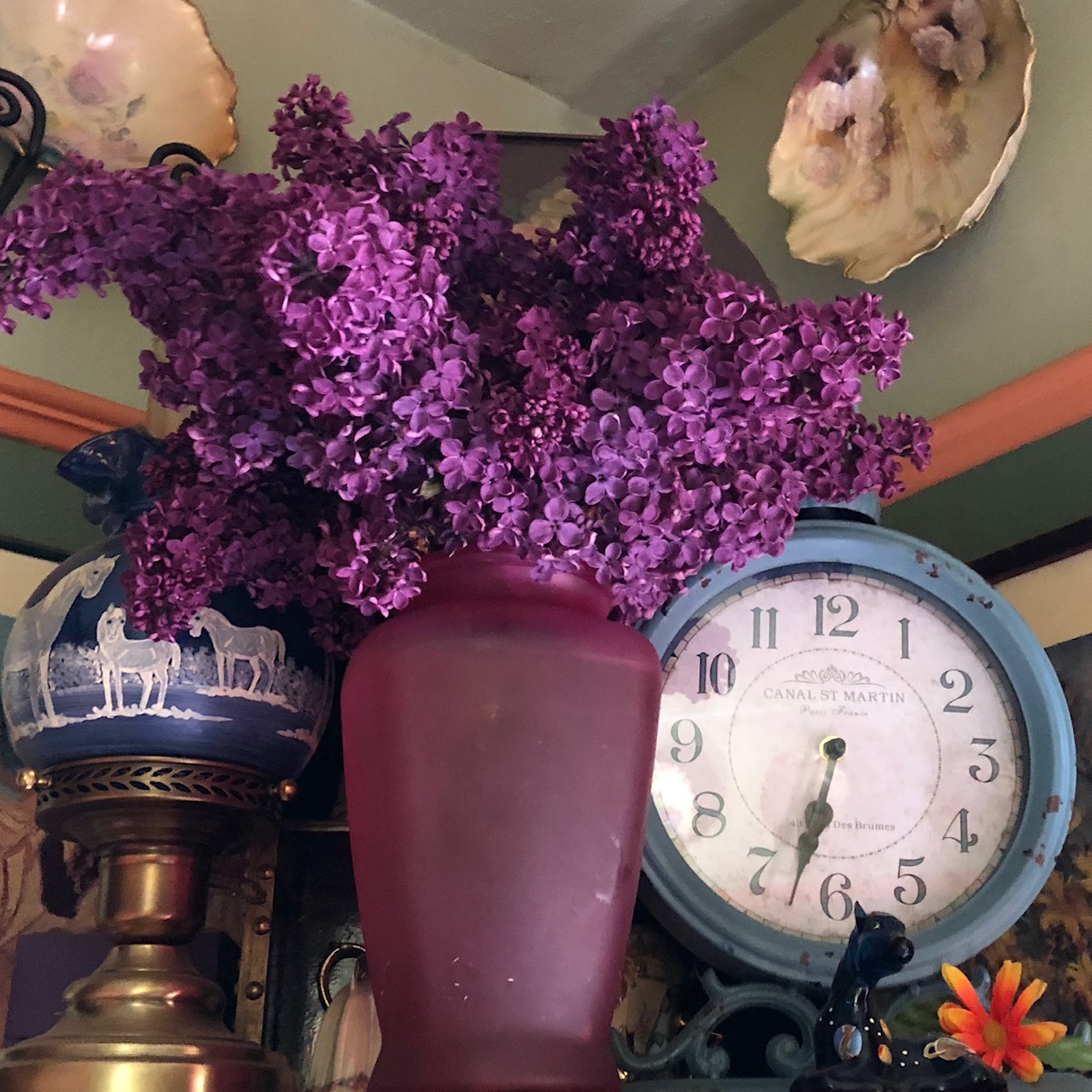 Lilac and Clock
