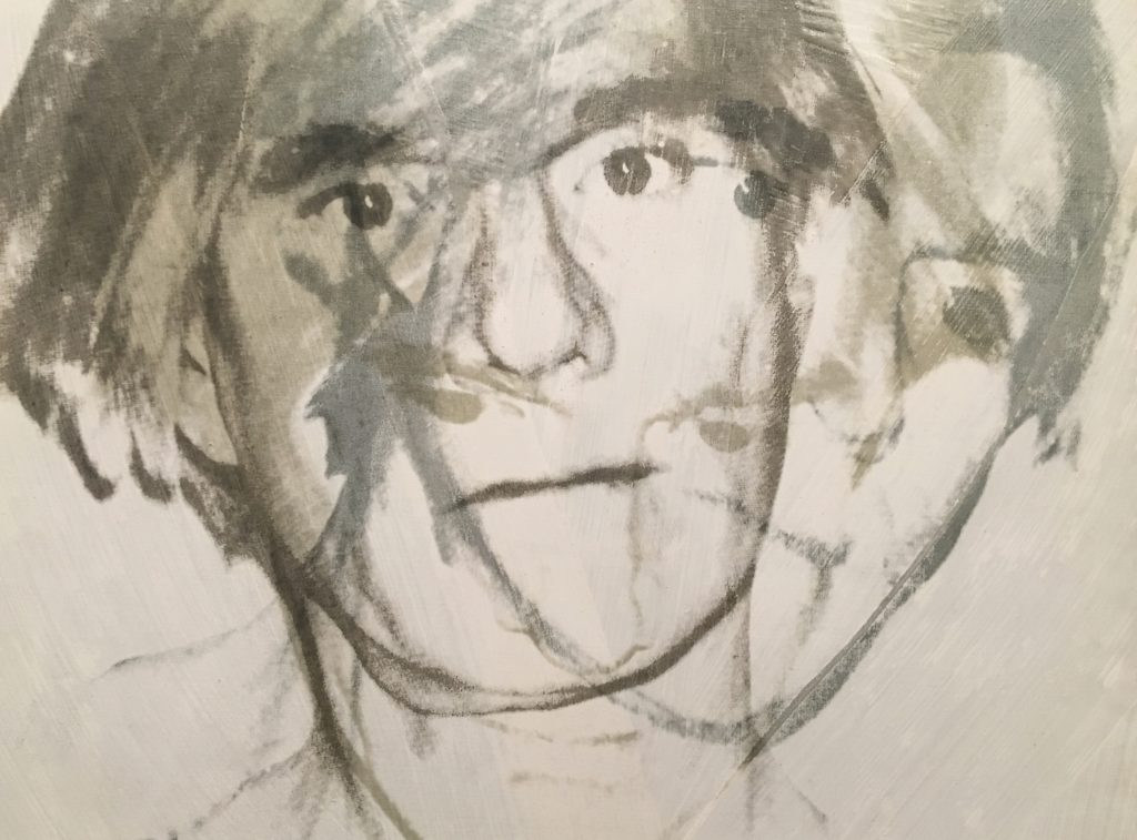 sketch of andy warhol
