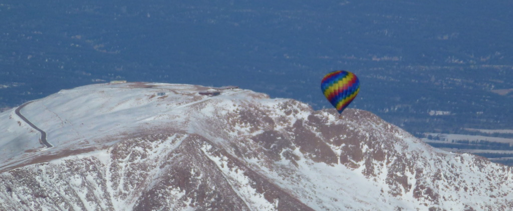 Tamie Folley over Pikes Peak