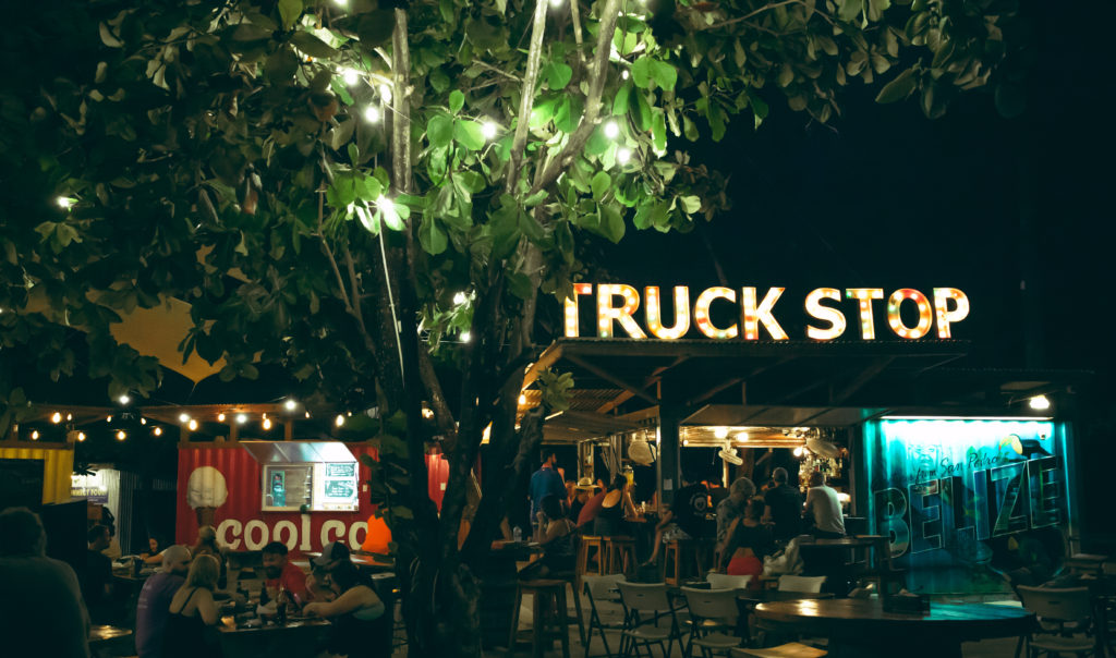 belize, truck stop, ambergris caye
