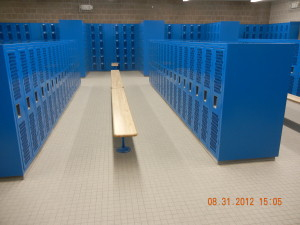 Finished Installation with Heavy Duty Ventilated Lockers by Republic Storage Systems