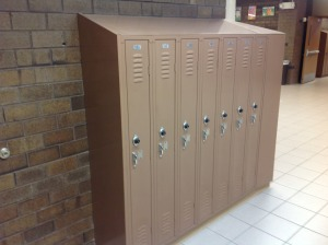 "9"" Wide lockers too small for coats & backpacks"