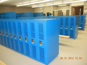New Heavy Duty Ventilated Lockers by Republic Storage Systems with Boxed Top & End Panels