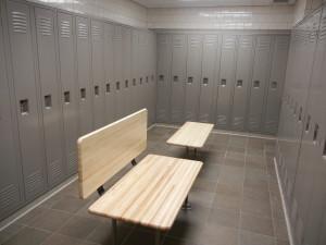 "MCTC Minneapolis - New Standard ""Quiet"" Lockers with ADA Bench"