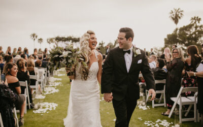 Krystle and Corbin's Black and White Wedding at Los Verdes Golf Course