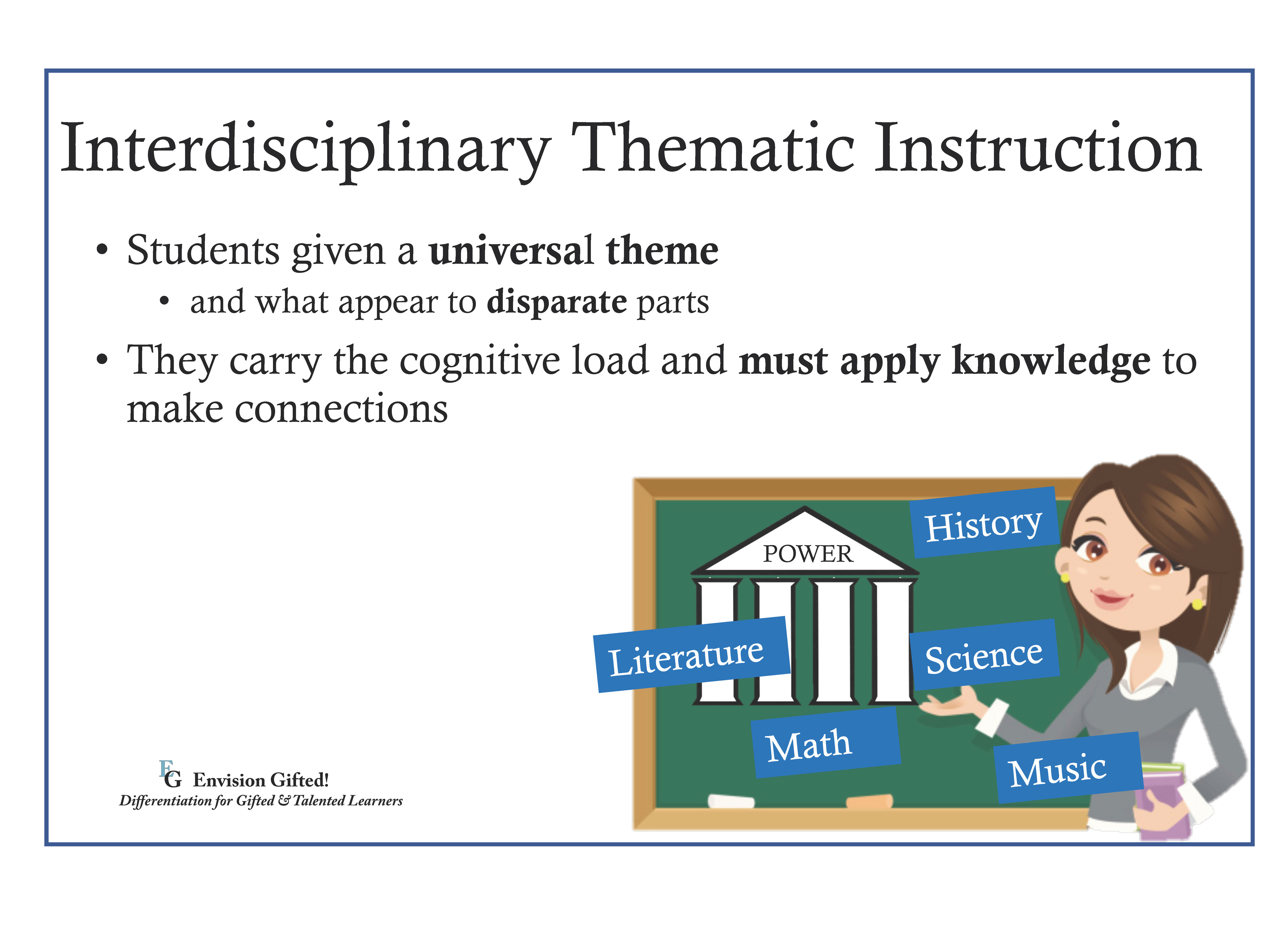 Envision Gifted. Interdisciplinary Thematic Instruction