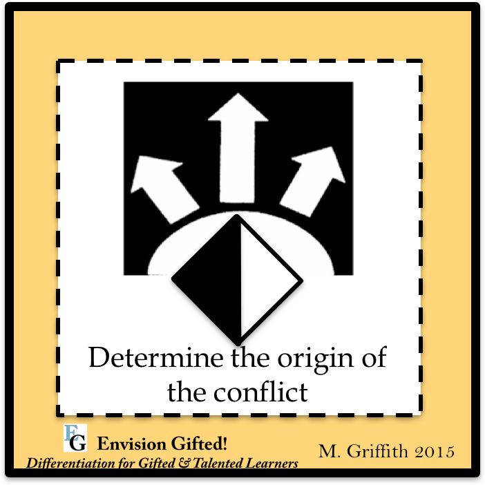 Envision Gifted. Origin of Conflict