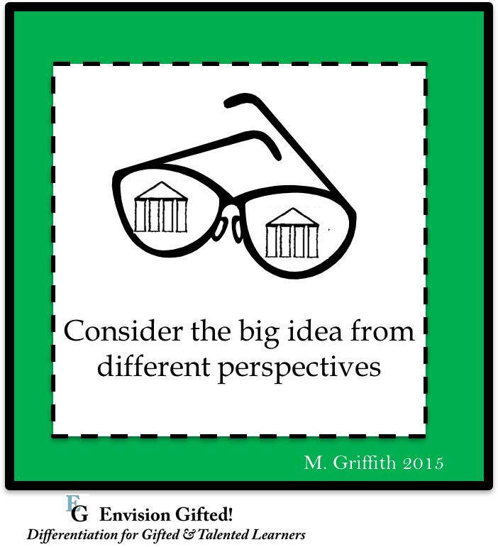 Image shows Big Idea Different Perspectives