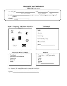 Envision Gifted Independent Study Investigation Math