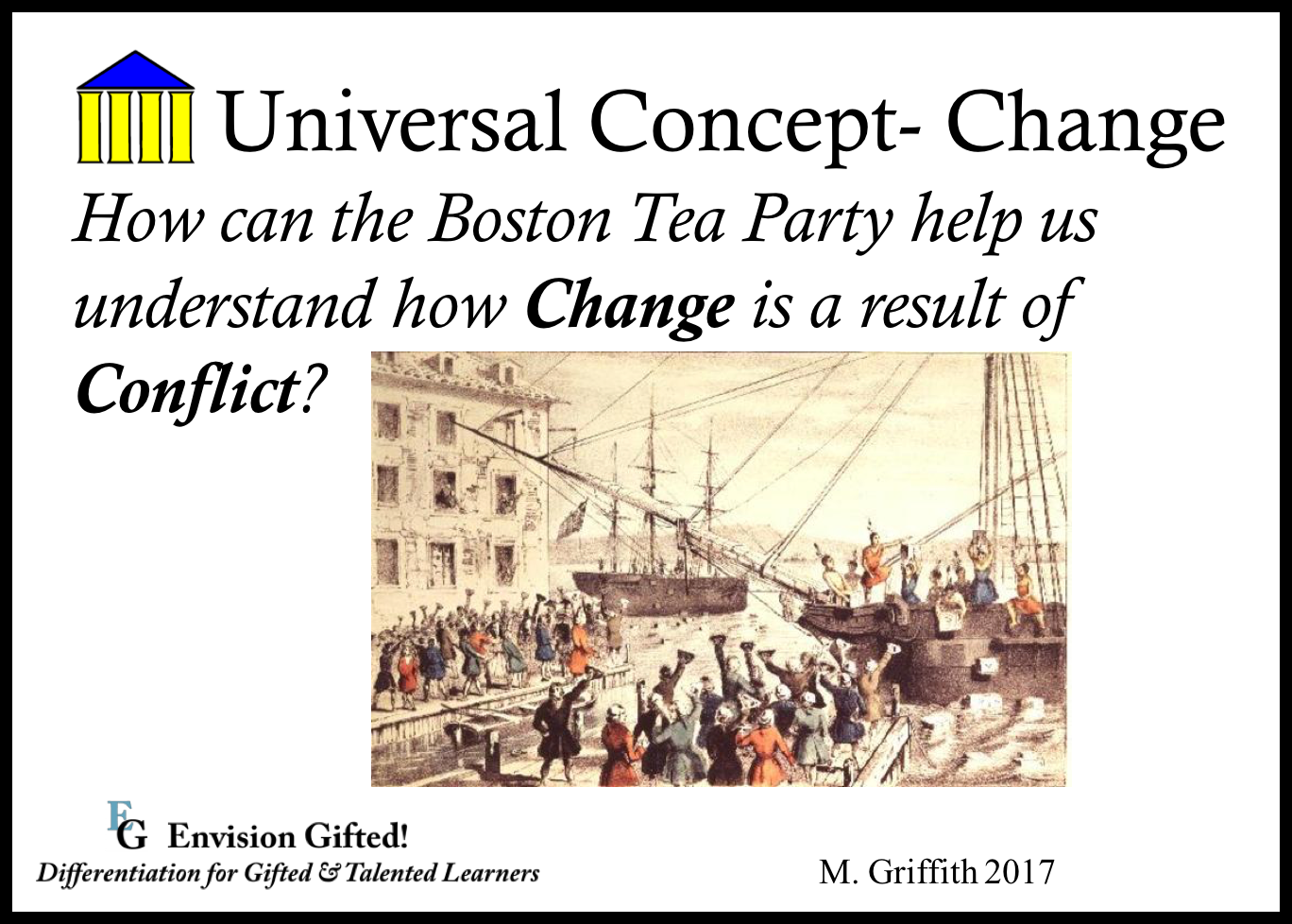 Envision Gifted. Universal Concept Change Results from Conflict