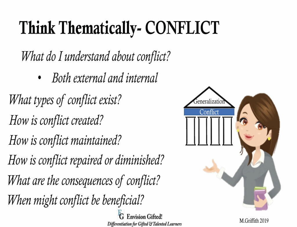 Envision Gifted. Universal Theme- Conflict