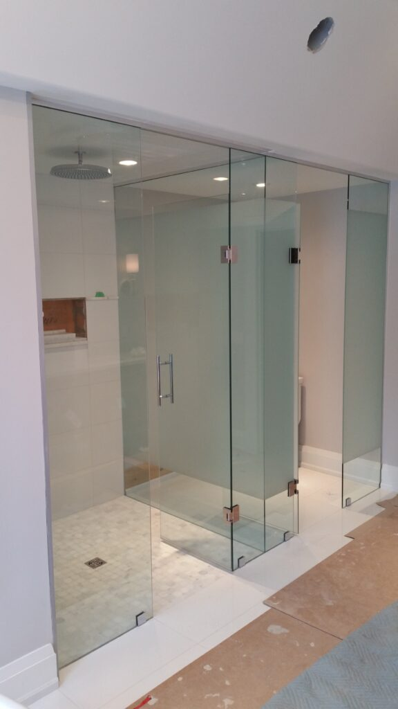 water closet and shower