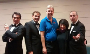 Cast of Sandy Hackett's Christmas Rat Pack Show at Ruth Eckerd Hall Clearwater, FL 12/21/15