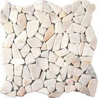 White Flat Pebbles