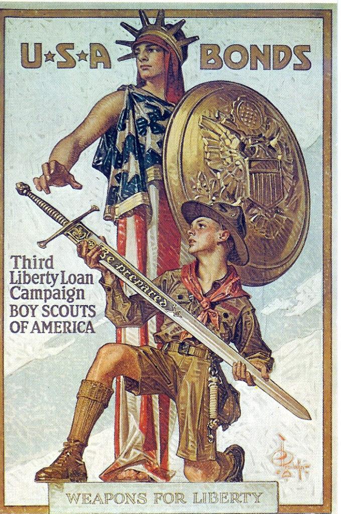 USA Bonds lady liberty and scout