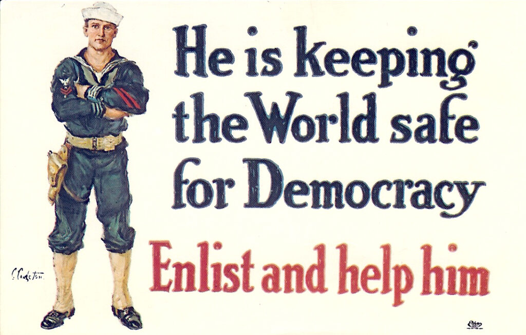 usa he is keeping the world safe for democary