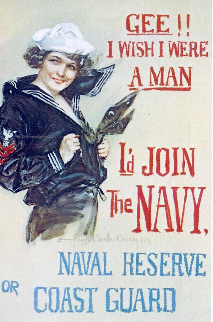 usa war poster navy women