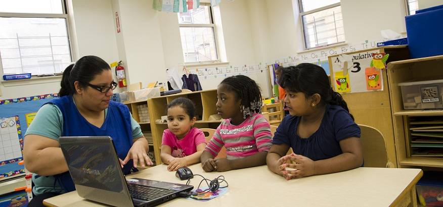 Children learning at WHEDco's Early Childhood Discovery Center.