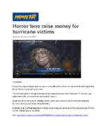10-30-2017 News 12 Bronx_Horror fans raise money for hurricane victims