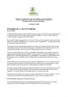 11-13-2008_chronicles-of-philanthropy_priorities-for-a-new-president