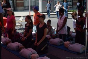 CPR training at Bronx Summer Fest 2016.