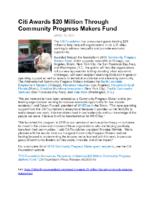 04-26-2018 Philanthropy News_Citi Foundation Announces Recipients of Community Progress Makers