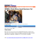 03-14-2019 BronxTimes_WHEDco Hosts Bronx Small Business Fair