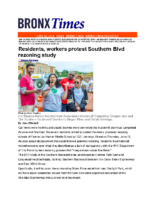 06-23-2019 BronxTimes_Residents and workers protest Southern Blvd rezoning study