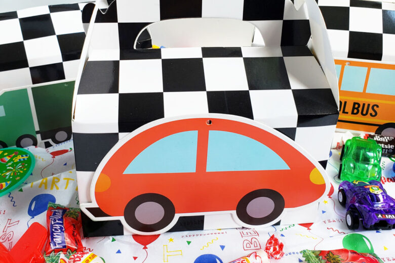 Easy DIY Race Car Party Favor Boxes
