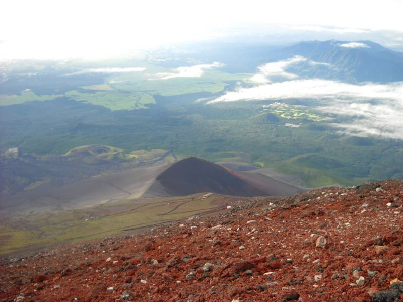 View from top of Mt. Fuji