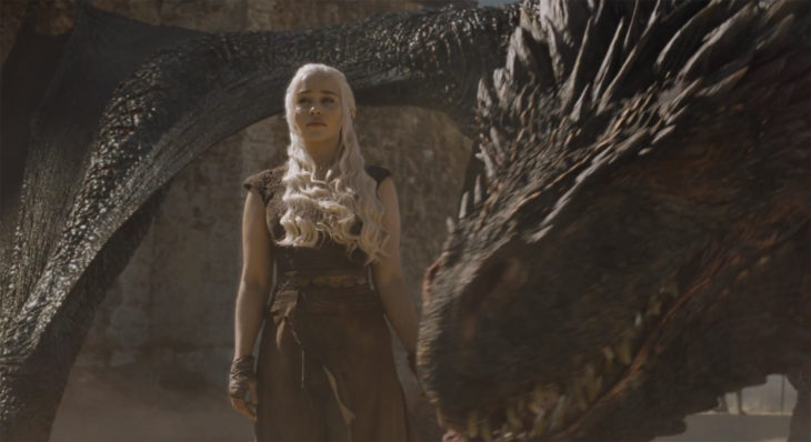 Danaerys and Drogon