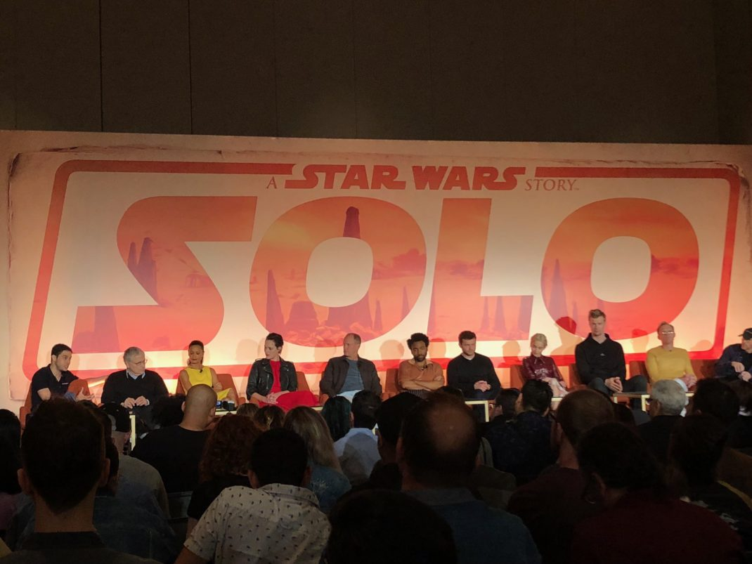 The cast of Solo: A Star Wars Story, director Ron Howard and the Kasdans talk about the film, characters and more