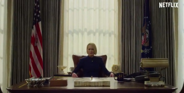 Claire's in charge in the new teaser trailer for House of Cards season 6