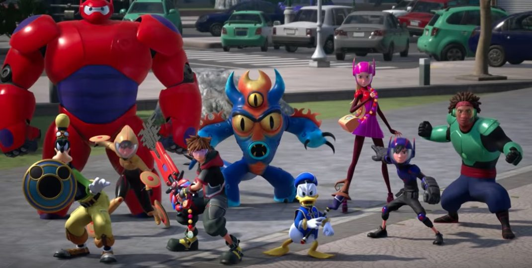 Check out the new trailer for Kingdom Hearts III with the characters from Big Hero 6!