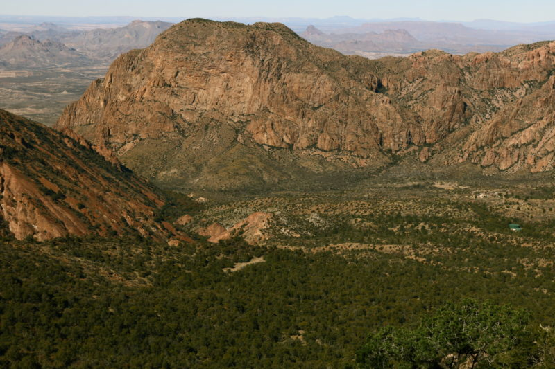 Big Bend National Park - View over the Chisos Basin from the top of the Pinnacles Trail