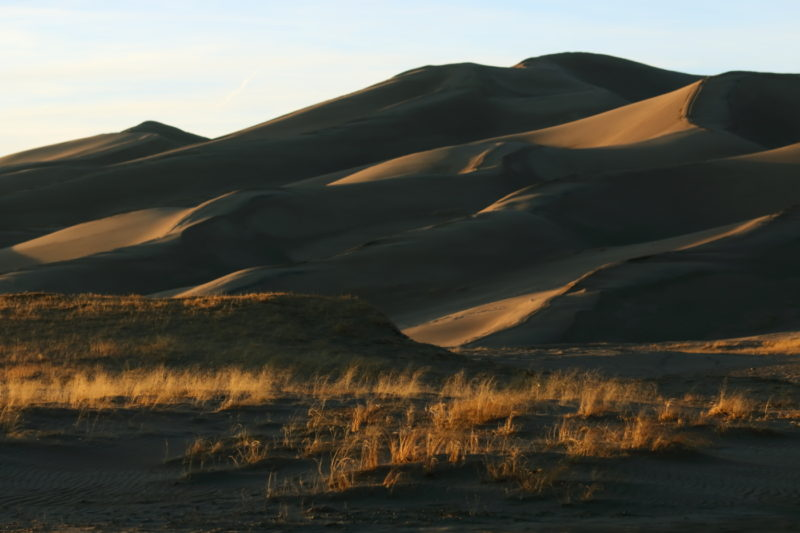 Great Sand Dunes National Park - Light from the sunset playing over the dune field