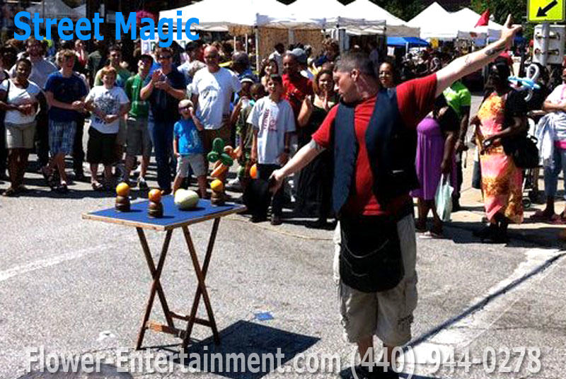 Street Magic in Cleveland Ohio. Rentals