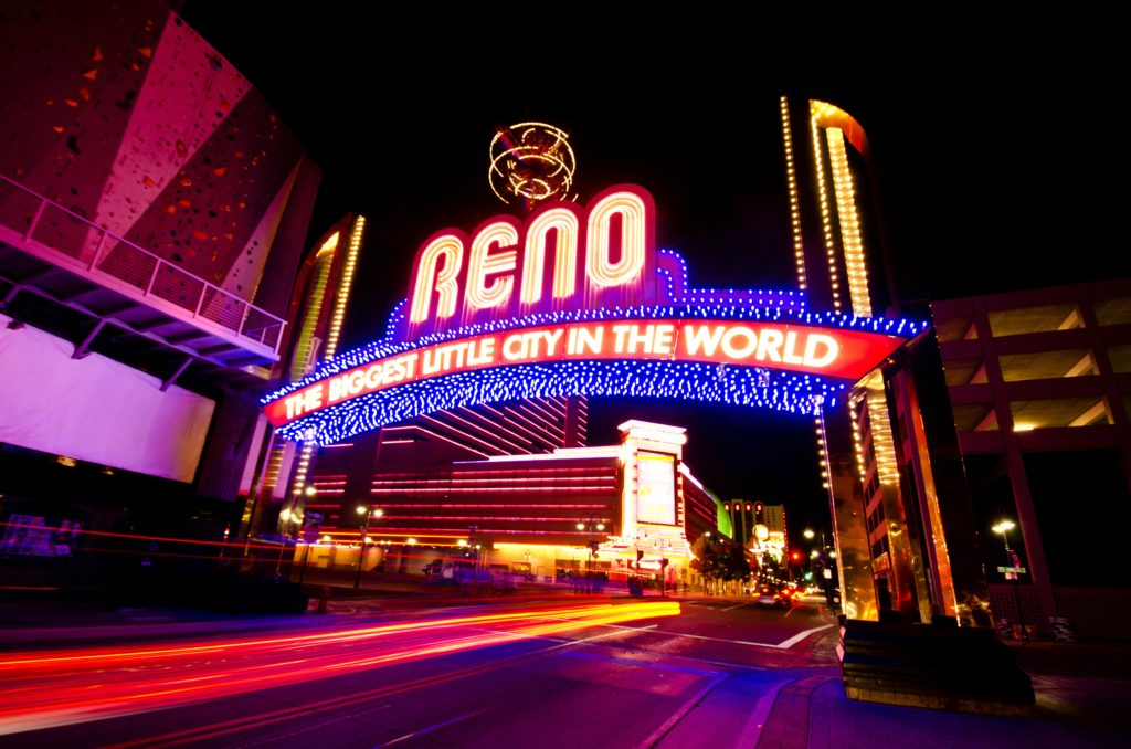 View of Reno Arch
