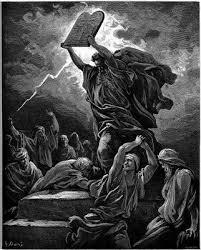 Following the Ten Commandments.