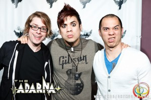 Jeremiah, Josh, and William being goofballs at The Adarna's CD Release Show 2012