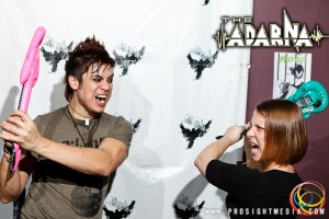 William and Laura guitar fight at The Adarna's CD Release Show 2012