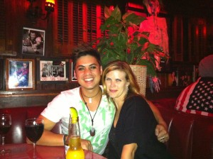 Erin meets with William for a post shoot wrap up celebration at the Rainbow Room