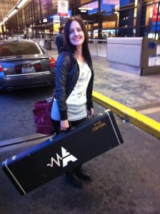 Andreka about to hop on the plane