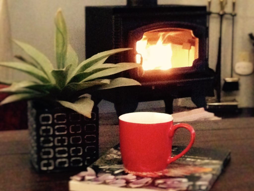 Coffee by the Fire