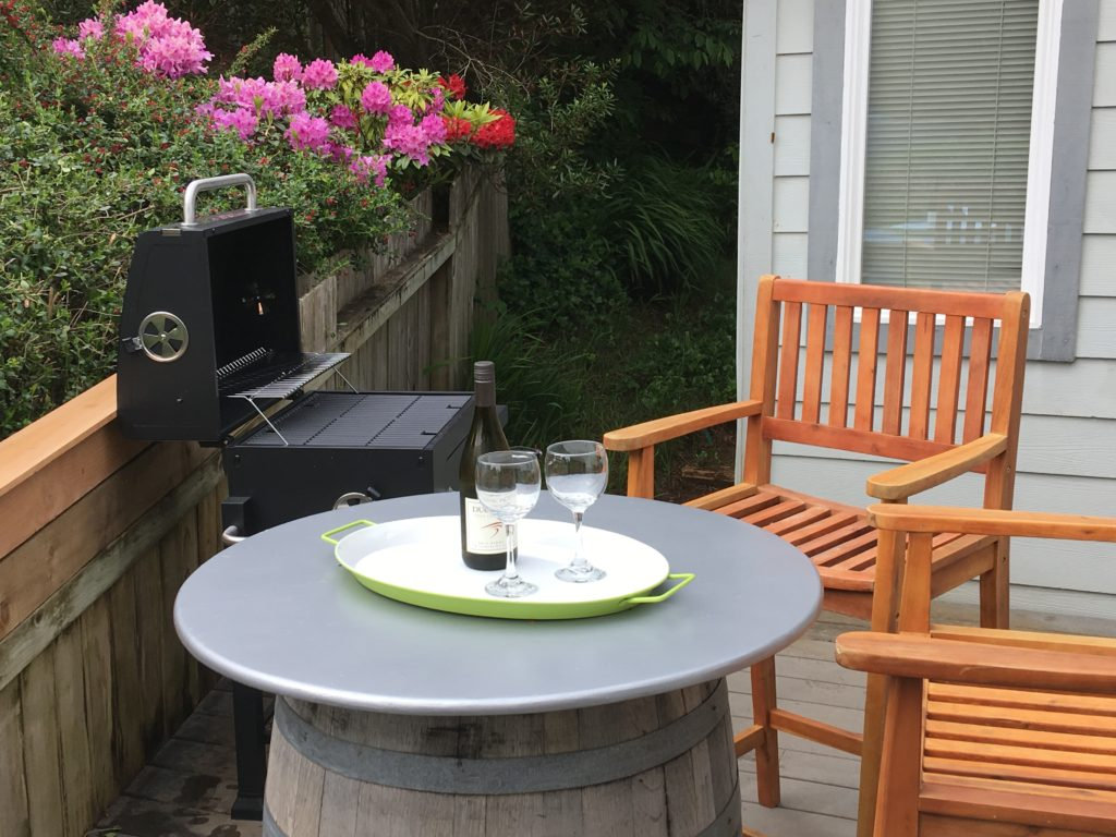 BBQ with Bar Chairs